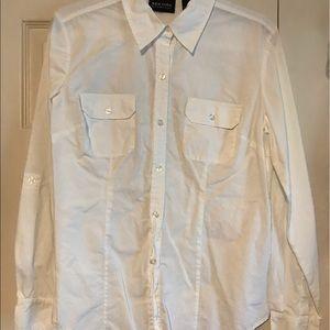 NewYork & Co 100% Cotton White Dress Shirt